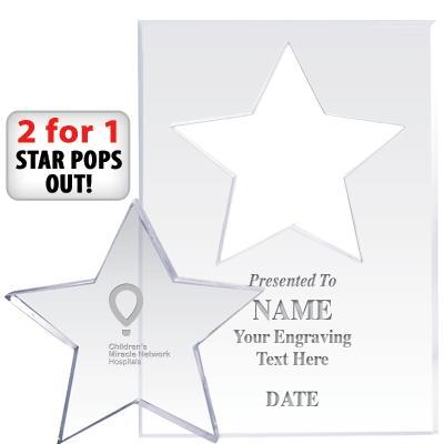 CMN Hospitals Star Paperweight Pop Out