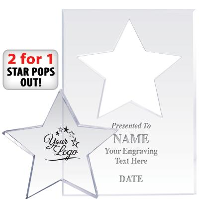 CMN Hospitals Star Paperweight Pop Out