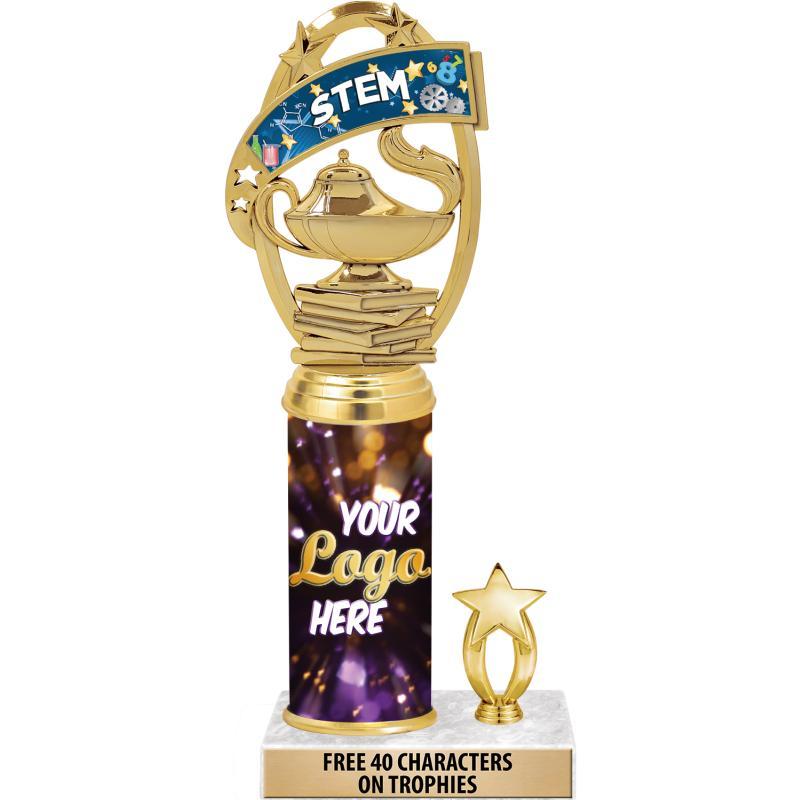 "10""CLASSIC LOGO GOLD TRIM TRP"