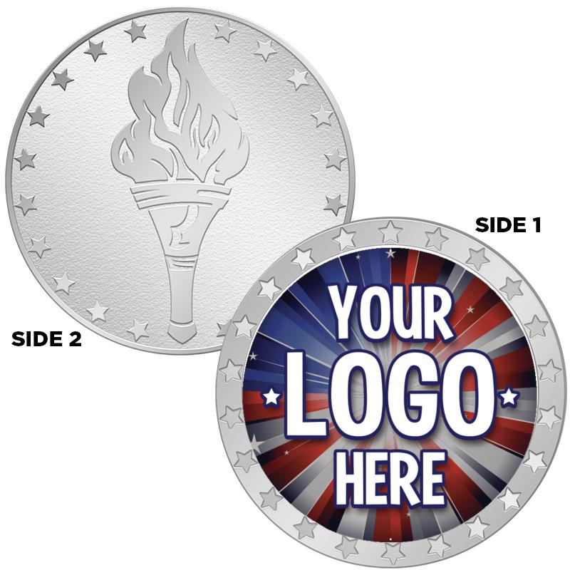 "1.5""1-SIDED TORCH POLS/SV COIN"