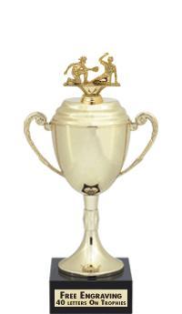 "13""USSSA GOLD CUP W/BLK MRBL"