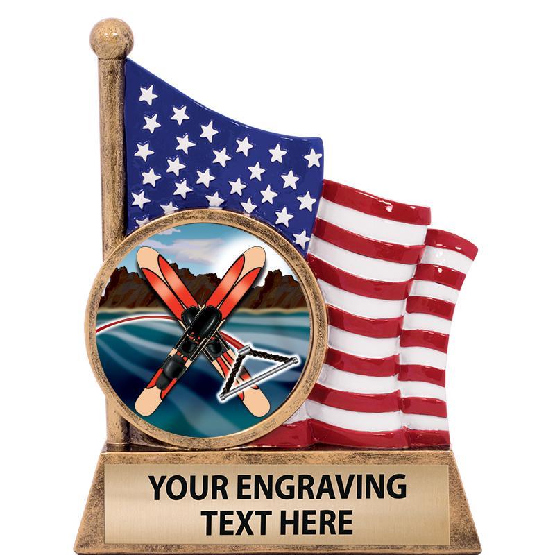 "5"" AMERICAN FLAG INSERT SCLPT"
