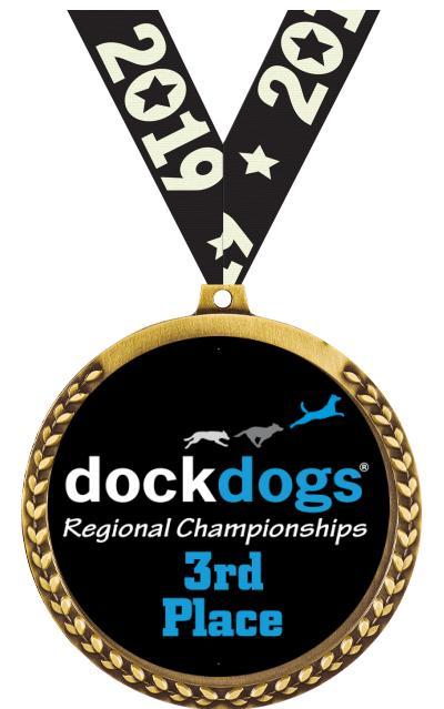 """3 1/2"""" DockDogs Mega Insert Medal"""