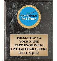 DockDogs Black Insert Plaques