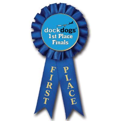 1st Place DockDogs Rosette Insert Ribbon