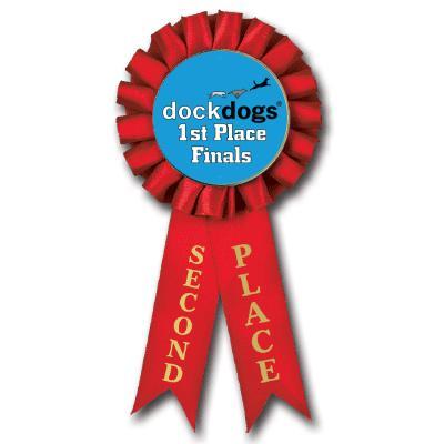 2nd Place DockDogs Rosette Insert Ribbon