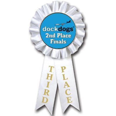 3rd Place DockDogs Rosette Insert Ribbon