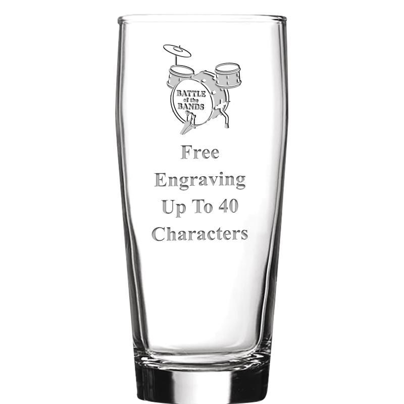 16 OZ NOBLE HOPS BEER GLASS