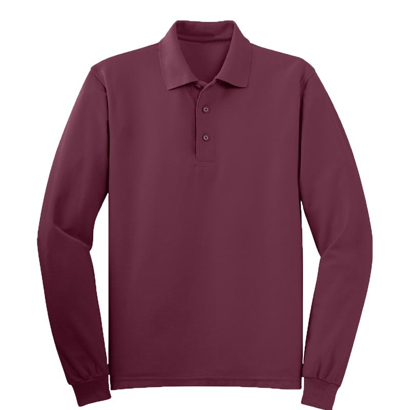 65/35 MENS SILK TOUCH POLO LS