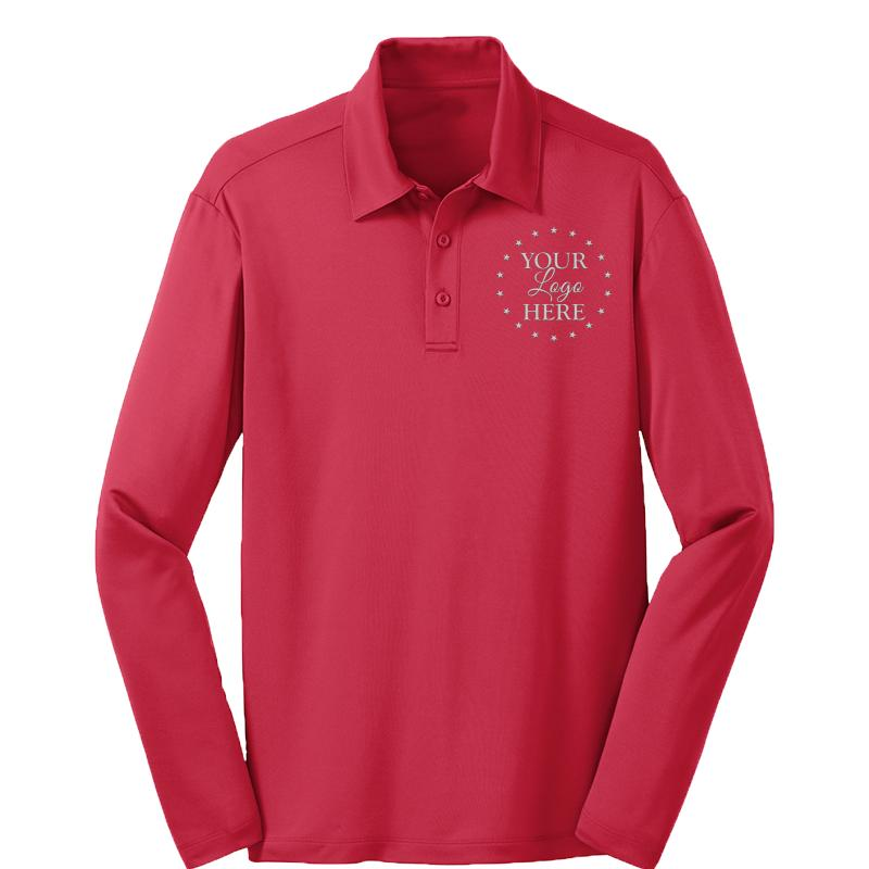 MENS L/S PERFORMANCE POLO