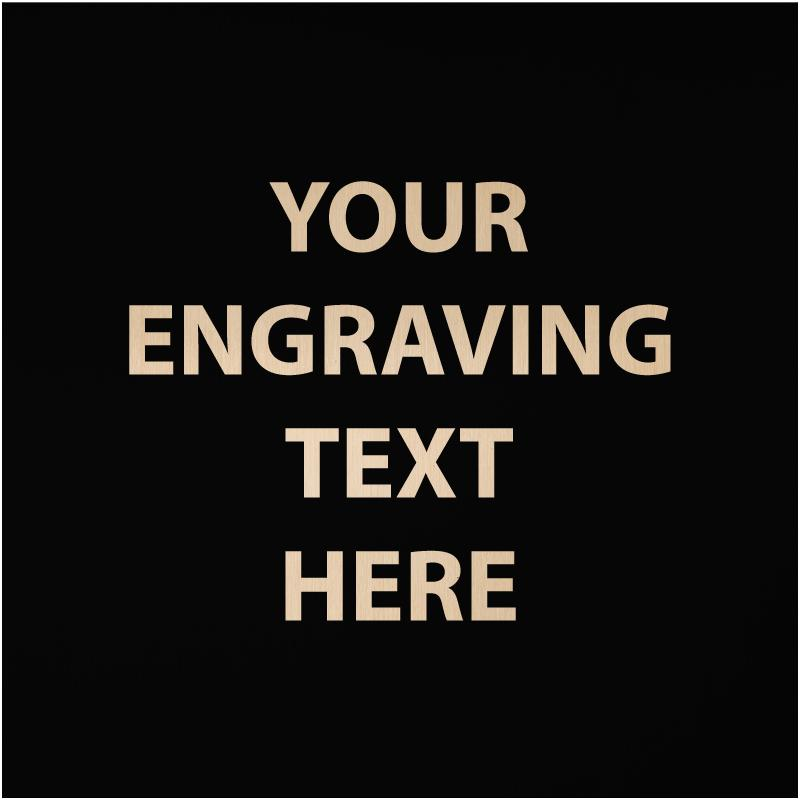 """ENGRAVE PLATE 1""""W X 1""""H"""