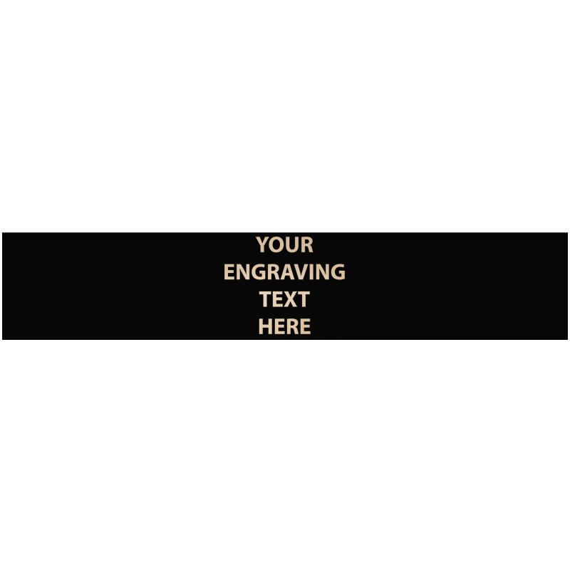 """ENGRAVE PLATE 5.25""""W X 1""""H"""