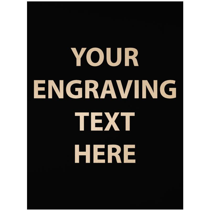 """ENGRAVE PLATE 0.75""""W X 1""""H"""