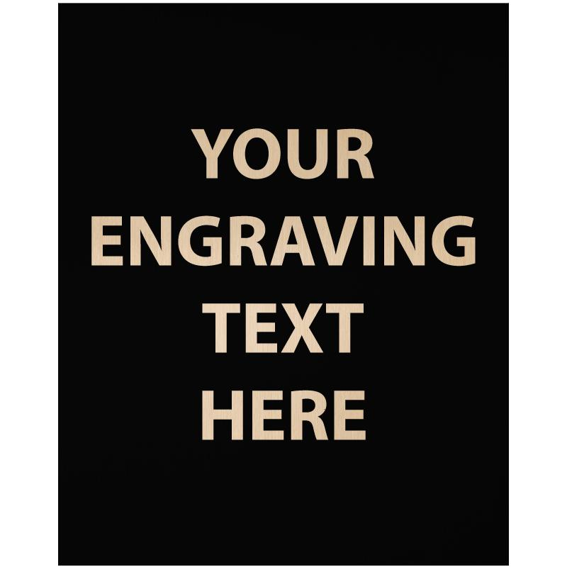 """ENGRAVE PLATE 1""""W X 1.25""""H"""