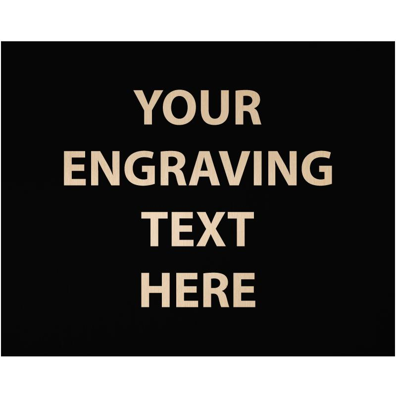 """ENGRAVE PLATE 1.25""""W X 1.25""""H"""