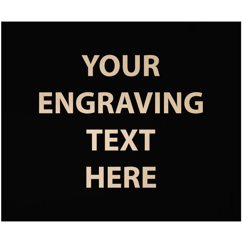"""ENGRAVE PLATE 1.50""""W X 1.25""""H"""