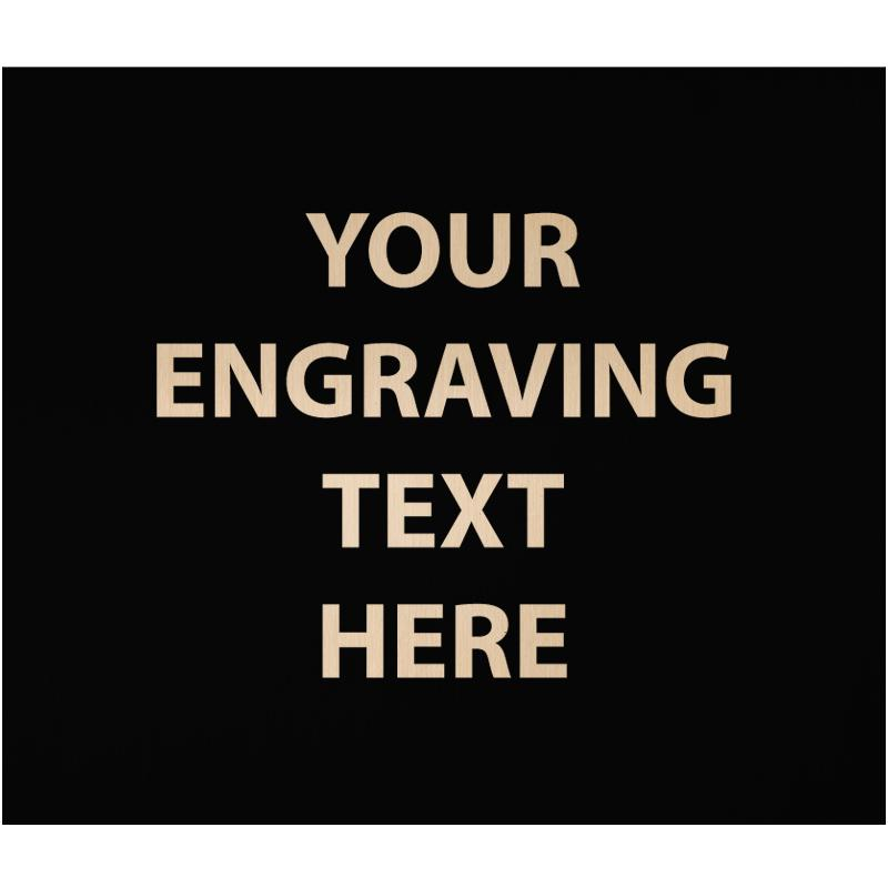 """ENGRAVE PLATE 1.75""""W X 1.50""""H"""
