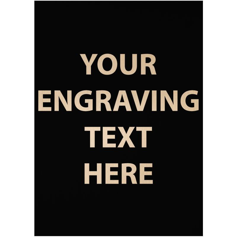 """ENGRAVE PLATE 1.25""""W X 1.75""""H"""