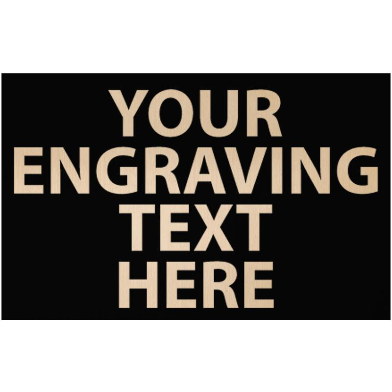 """ENGRAVE PLATE 2.75""""W X 1.75""""H"""