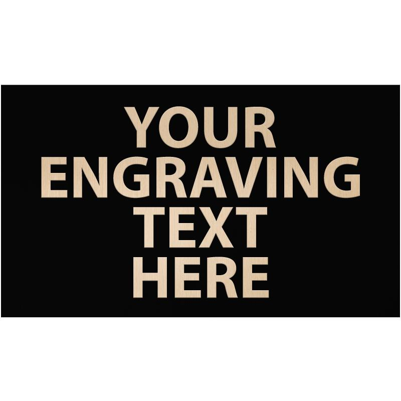 """ENGRAVE PLATE 3""""W X 1.75""""H"""