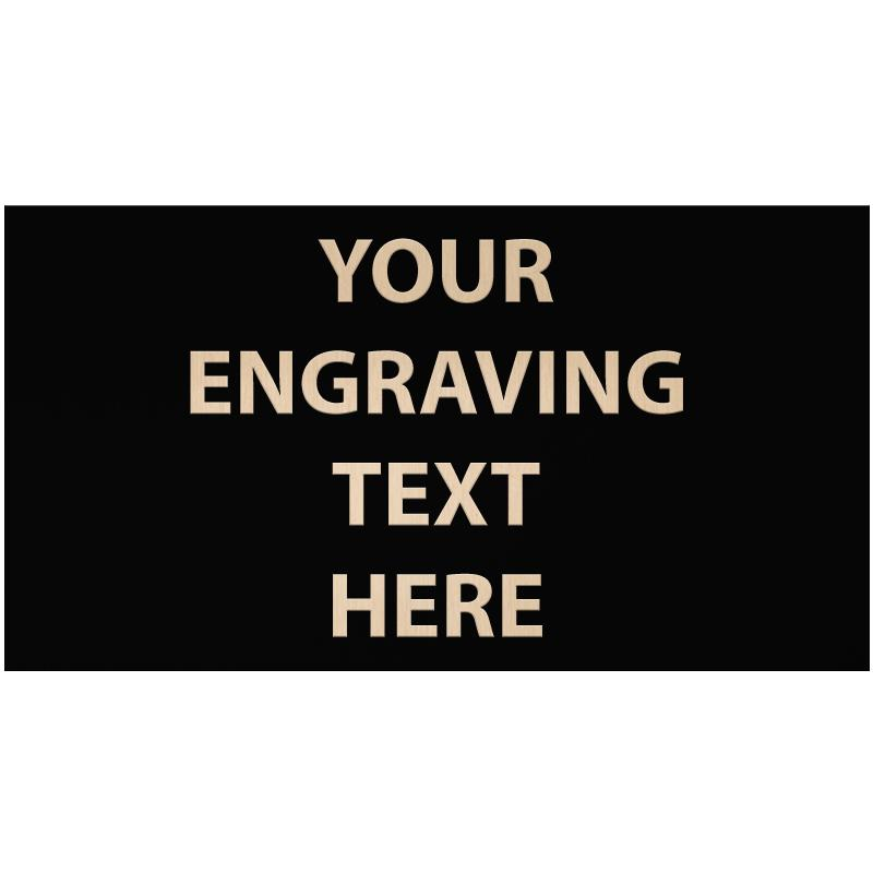 """ENGRAVE PLATE 3.25""""W X 1.75""""H"""