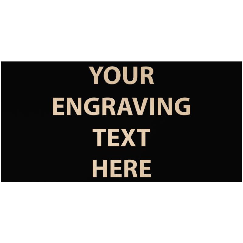 """ENGRAVE PLATE 3.50""""W X 1.75""""H"""