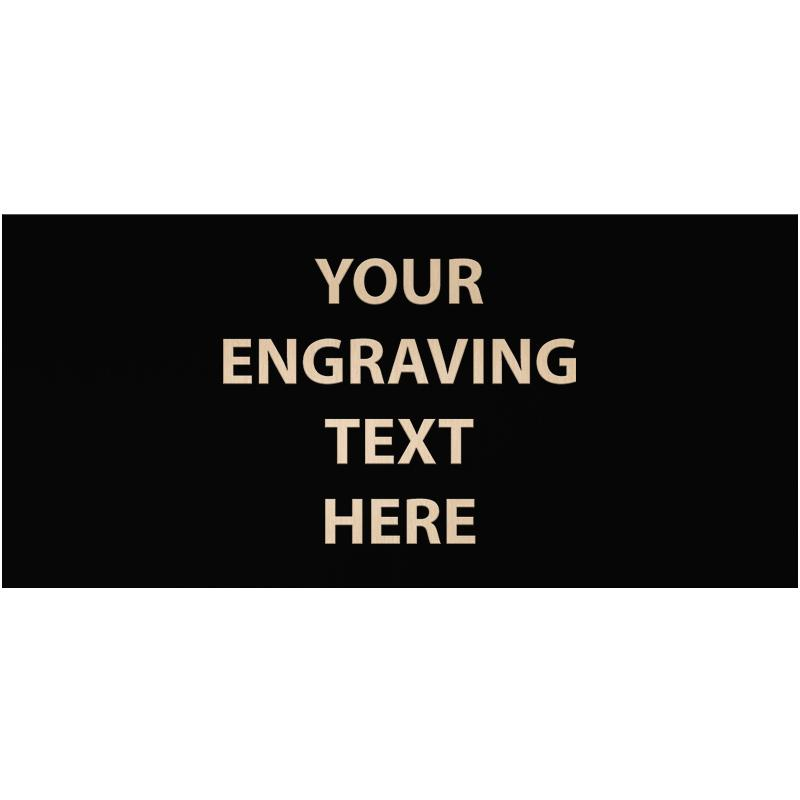 """ENGRAVE PLATE 4.25""""W X 2""""H"""