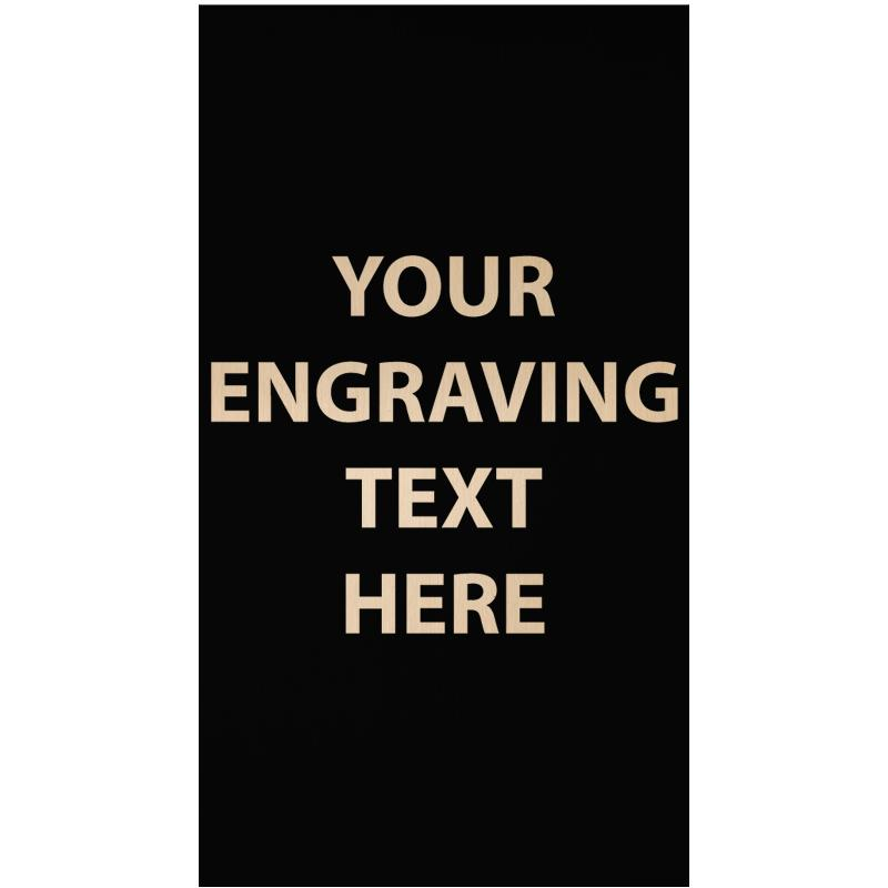 """ENGRAVE PLATE 1.25""""W X 2.25""""H"""