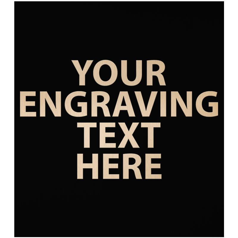 """ENGRAVE PLATE 2""""W X 2.25""""H"""