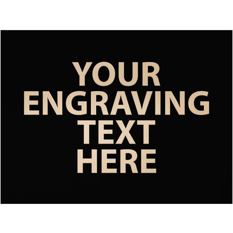 """ENGRAVE PLATE 3""""W X 2.25""""H"""