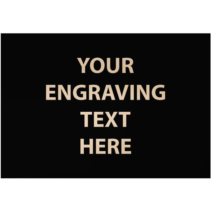 """ENGRAVE PLATE 3.25""""W X 2.25""""H"""