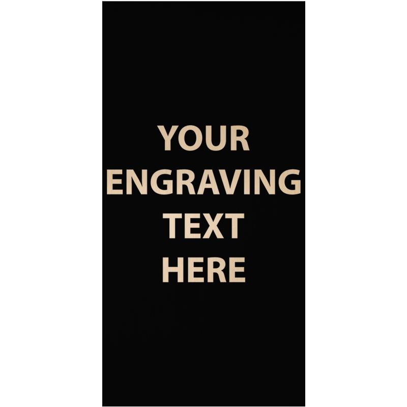 """ENGRAVE PLATE 1.25""""W X 2.50""""H"""