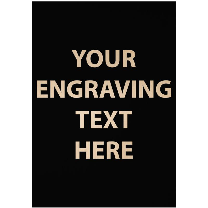 """ENGRAVE PLATE 1.75""""W X 2.50""""H"""