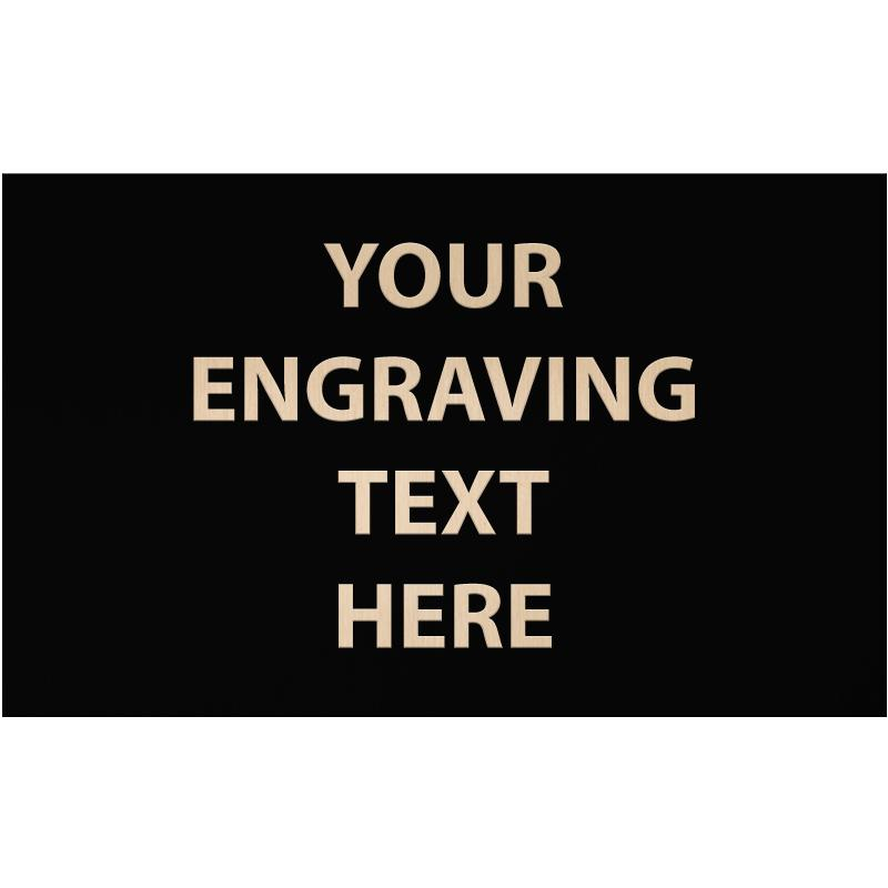 """ENGRAVE PLATE 3.50""""W X 2.50""""H"""