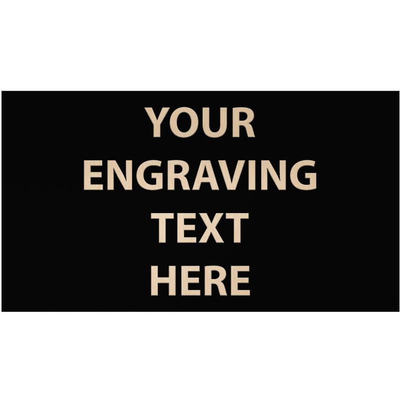 """ENGRAVE PLATE 4.50""""W X 2.50""""H"""