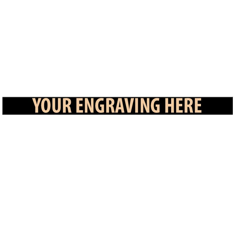 """ENGRAVE PLATE 3.25""""W X 0.25""""H"""