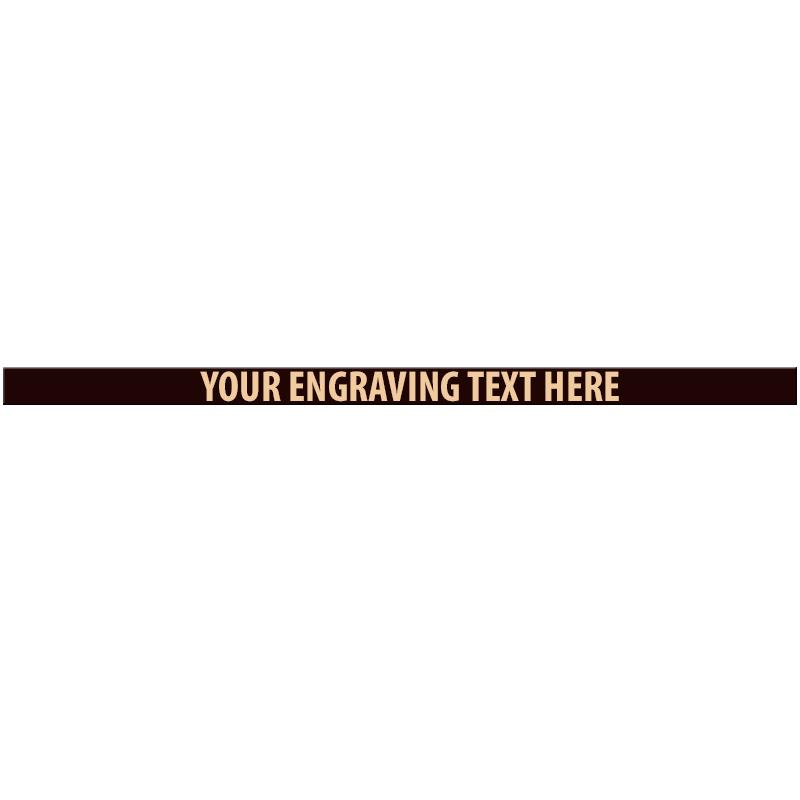 """ENGRAVE PLATE 5.25""""W X 0.25""""H"""