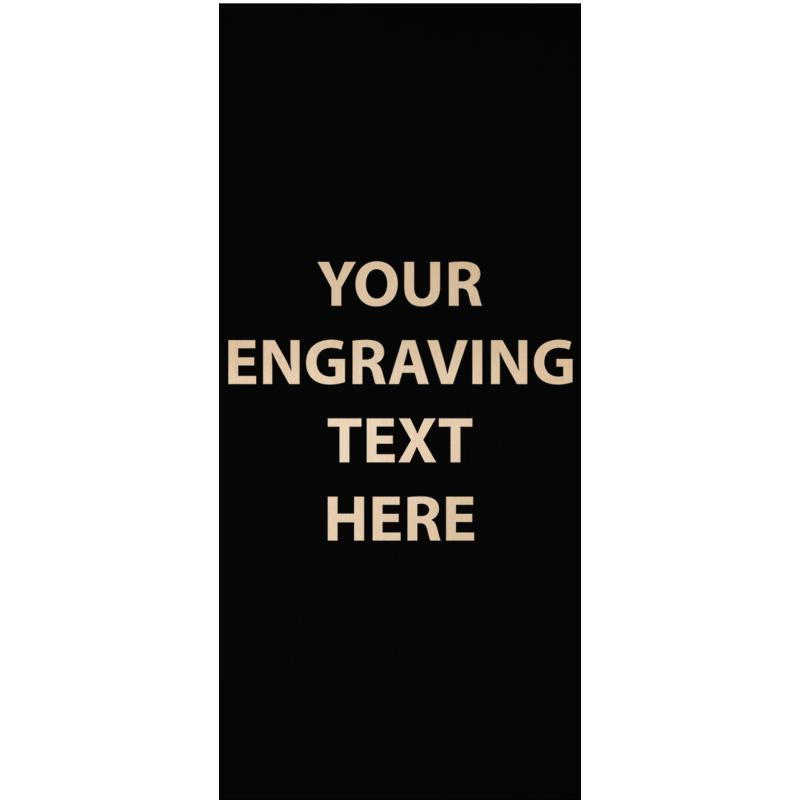 "ENGRAVE PLATE 1.25""W X 2.75""H"