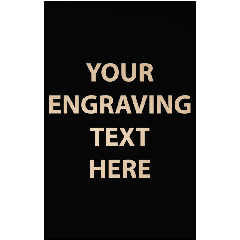 """ENGRAVE PLATE 1.75""""W X 2.75""""H"""