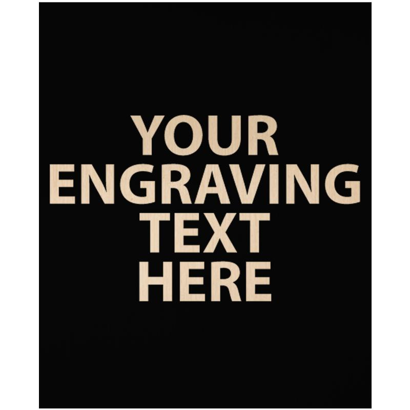 """ENGRAVE PLATE 2.25""""W X 2.75""""H"""