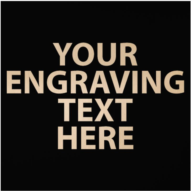 """ENGRAVE PLATE 2.75""""W X 2.75""""H"""