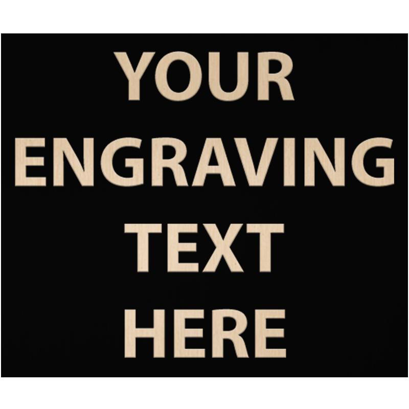 """ENGRAVE PLATE 3.25""""W X 2.75""""H"""