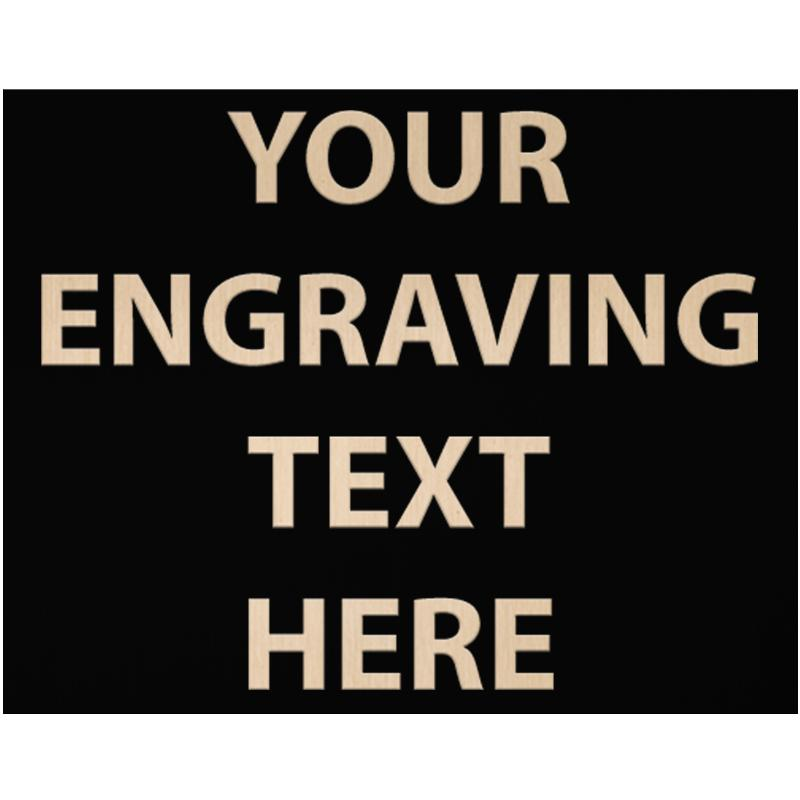 """ENGRAVE PLATE 3.50""""W X 2.75""""H"""