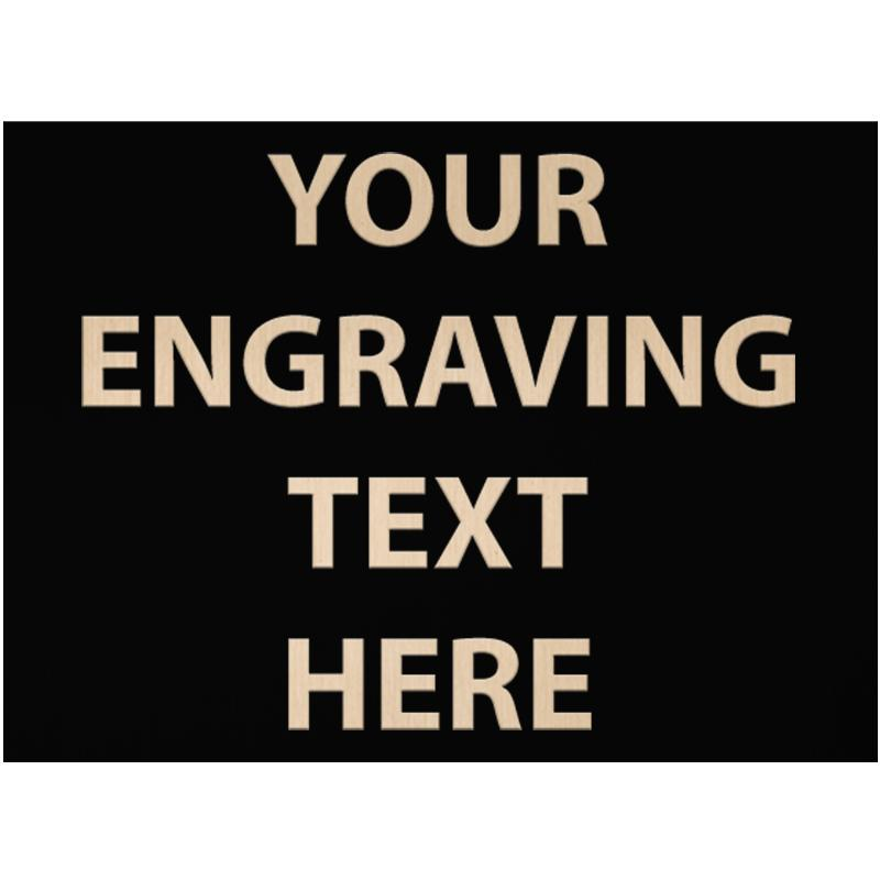 """ENGRAVE PLATE 3.75""""W X 2.75""""H"""