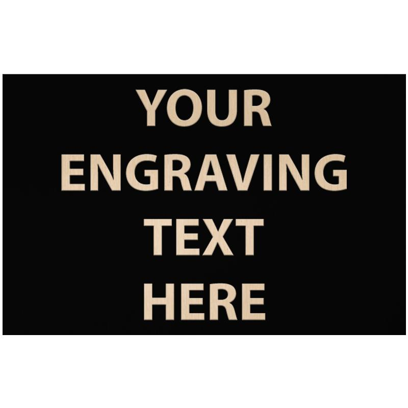 """ENGRAVE PLATE 4.25""""W X 2.75""""H"""