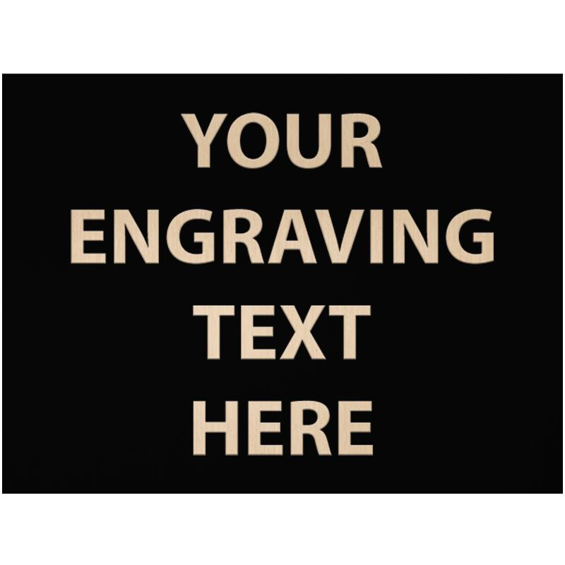 """ENGRAVE PLATE 3"""" X 4"""""""