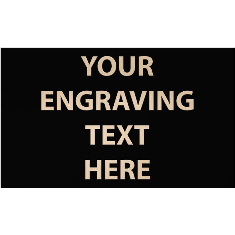 """ENGRAVE PLATE 3"""" X 5"""""""
