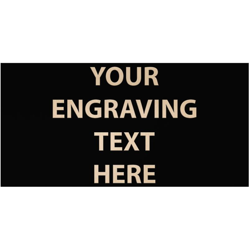 """ENGRAVE PLATE 3"""" X 6"""""""