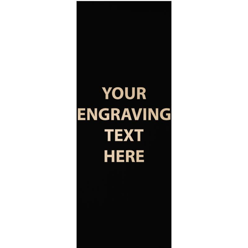 "ENGRAVE PLATE 1.25""W X 3.25""H"