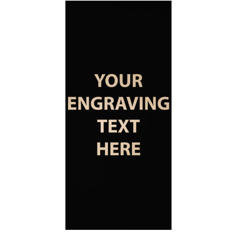 """ENGRAVE PLATE 1.50""""W X 3.25""""H"""